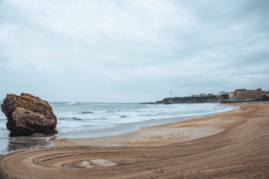 Going to the Grand Plage in Biarritz France
