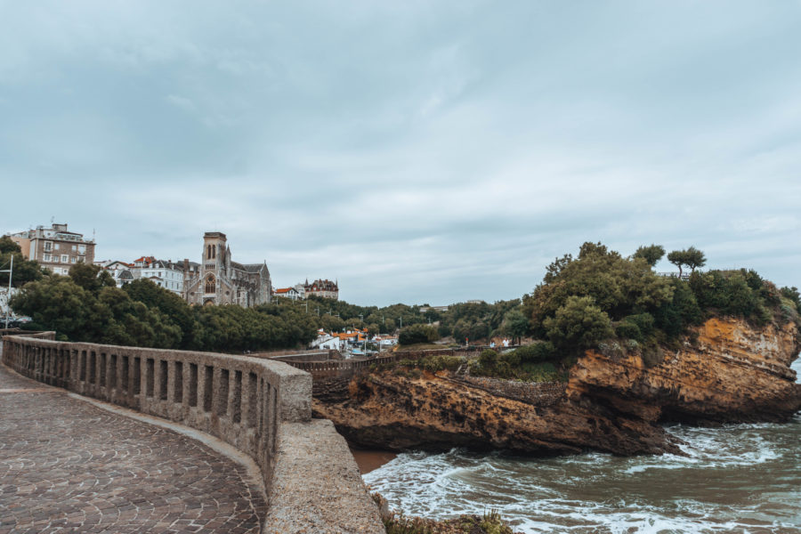 Stumbling upon a beautiful place in Biarritz on a rainy day
