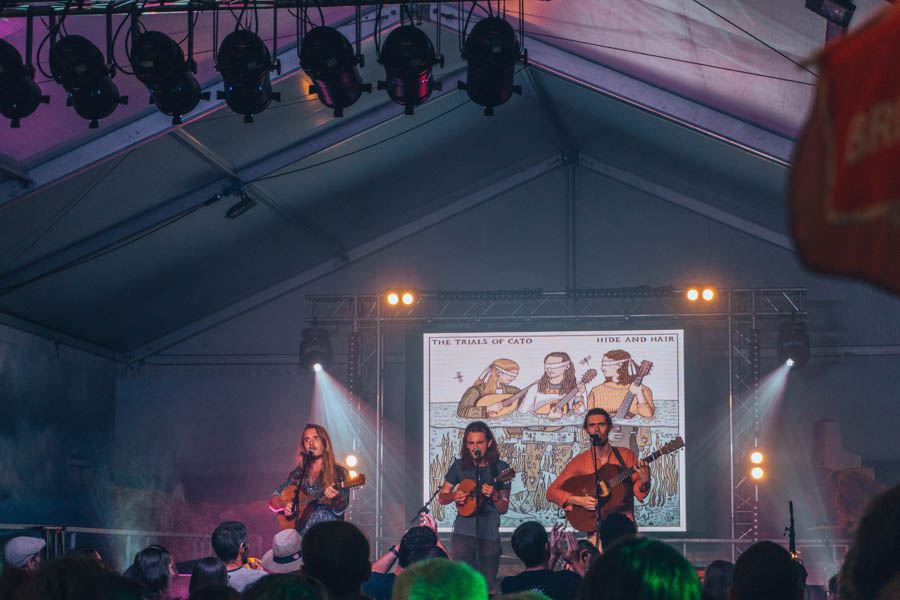 Great band playing at night at the Inter-Celtic Festival in Lorient