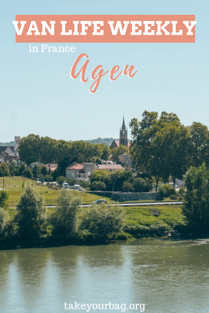 Beautiful stop in Agen on our camper van trip around France | Agen bridge | And learn also about our time on France South West coast! | #agen #france #vanlife