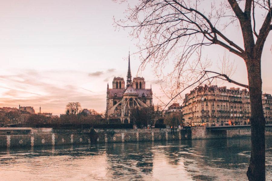 A view of the Cathedral Notre Dame de Paris