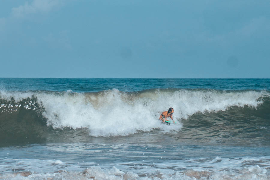 Simone bodyboarding in Biarritz France-3