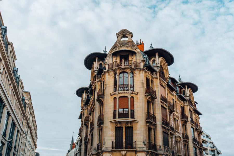 Art Nouveau building in the center of Dijon