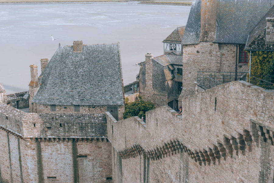 The remparts of Mont Saint Michel