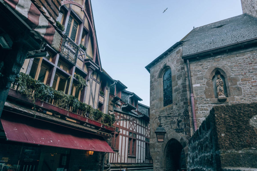 Another view of the Grand Rue in Mont Saint Michel