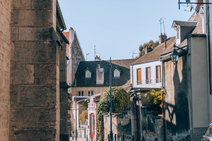 A street in the village of Beaune in Burgundy France