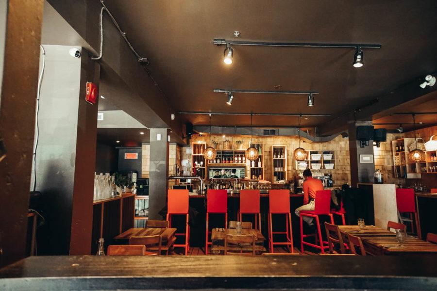 Lola Rosa vegan restaurant in Montreal close to Mount Royal Park