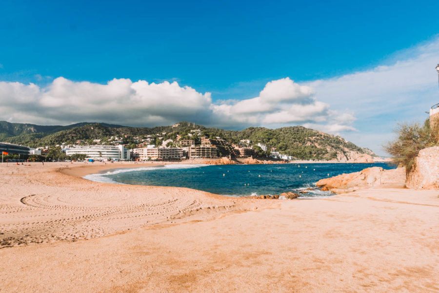 The beach in Tossa de Mar Spain