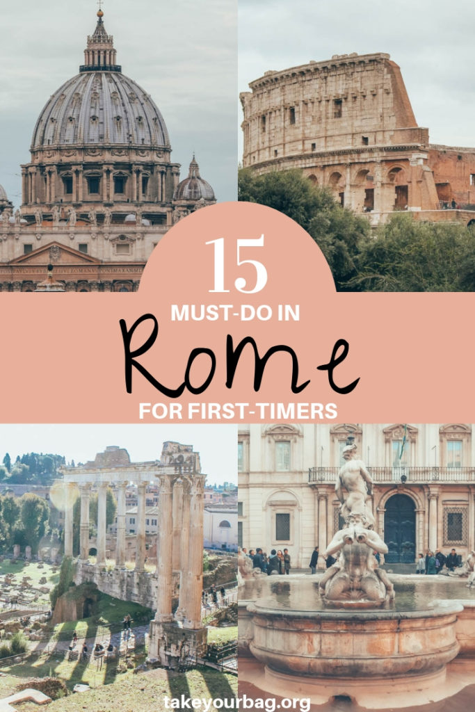 15 must do in Rome for first timers pinterest