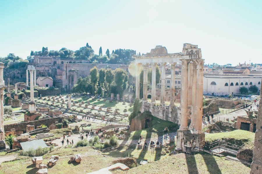 A broad view of the Roman Forum