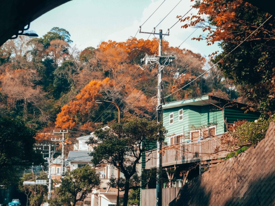 Arriving in Kamakura for a day trip from Tokyo