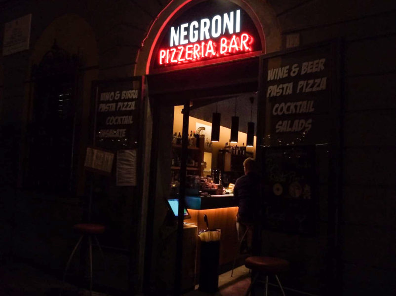 Negroni bar in Firenze Italy