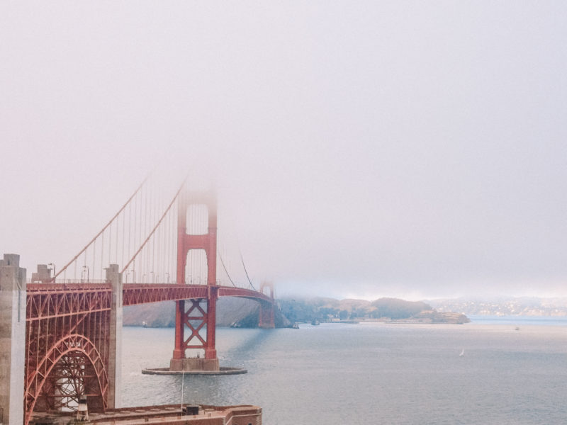 Golden Gate Bridge in San Francisco on our California Road Trip Itinerary