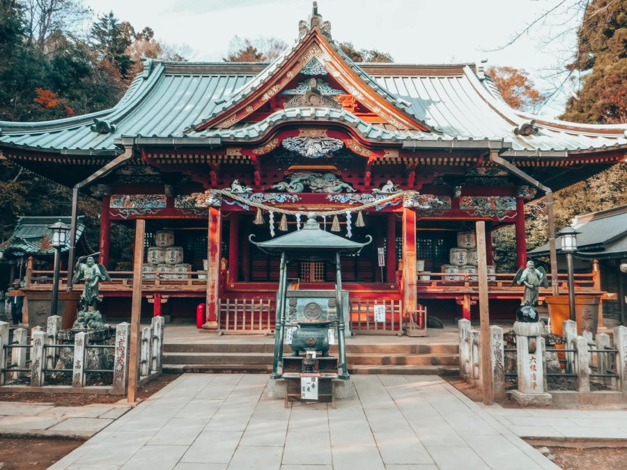 A temple on Takao-san on a day trip from Tokyo