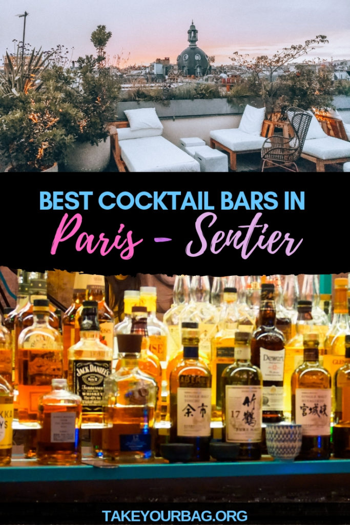 Best cocktail bars in Paris Sentier area on Pinterest