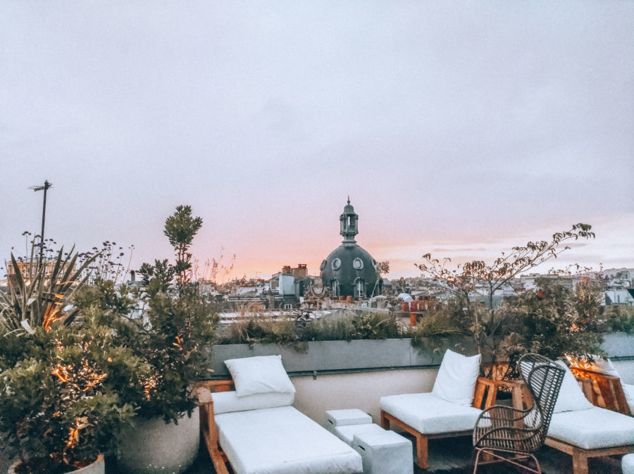 The rooftop bar at Hôtel National de Arts et Métiers