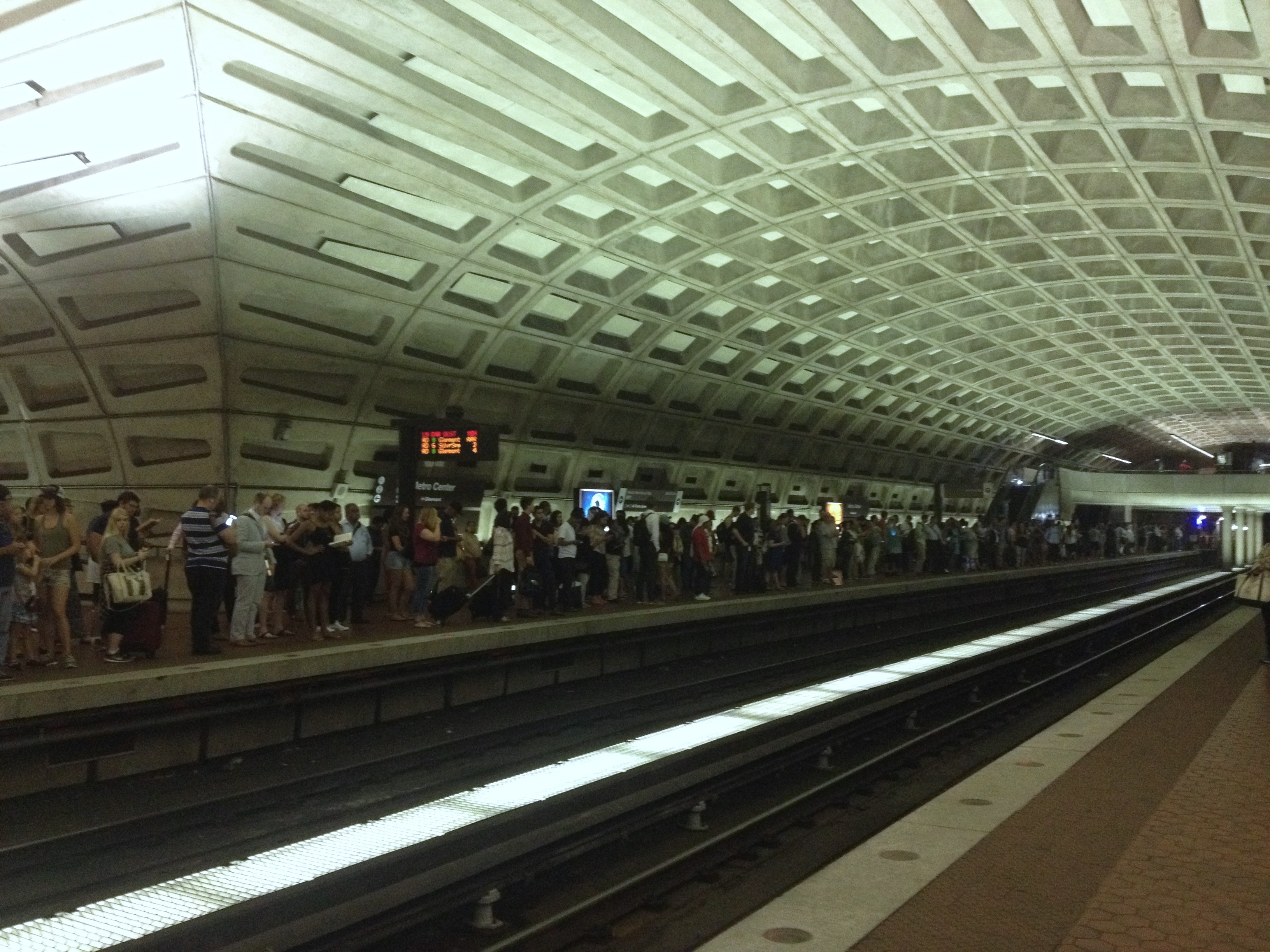 The metro on the way back to Bethesda