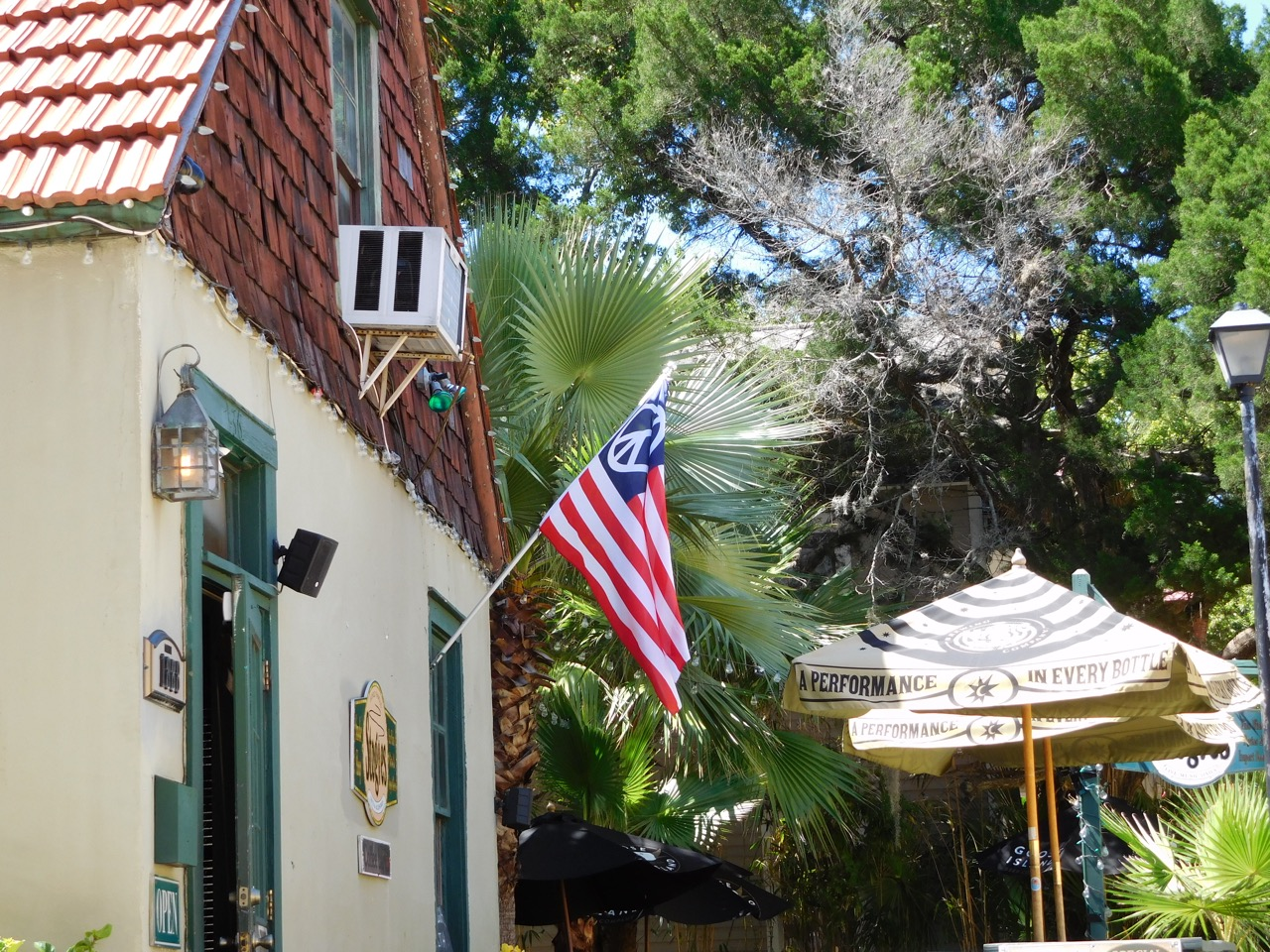 Peace flag in St Augustine