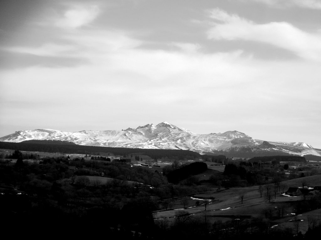 The Auvergne mountains