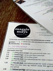 Hangover Cure at Maggie May's