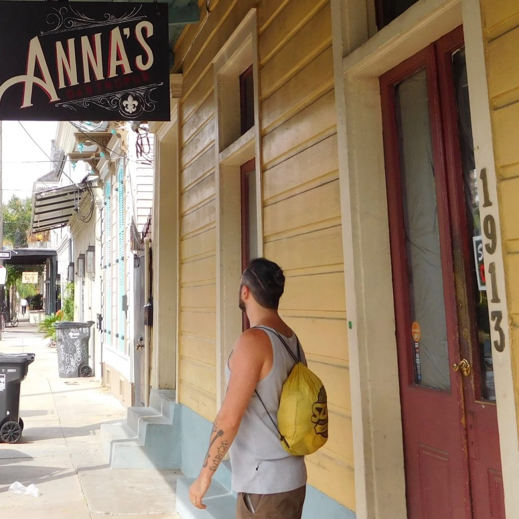 Simone in New Orleans il primo giorno