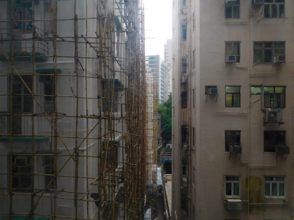 View from the staircase of the Chungking Mansions