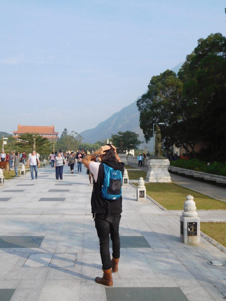 Simone on the way to Big Buddha