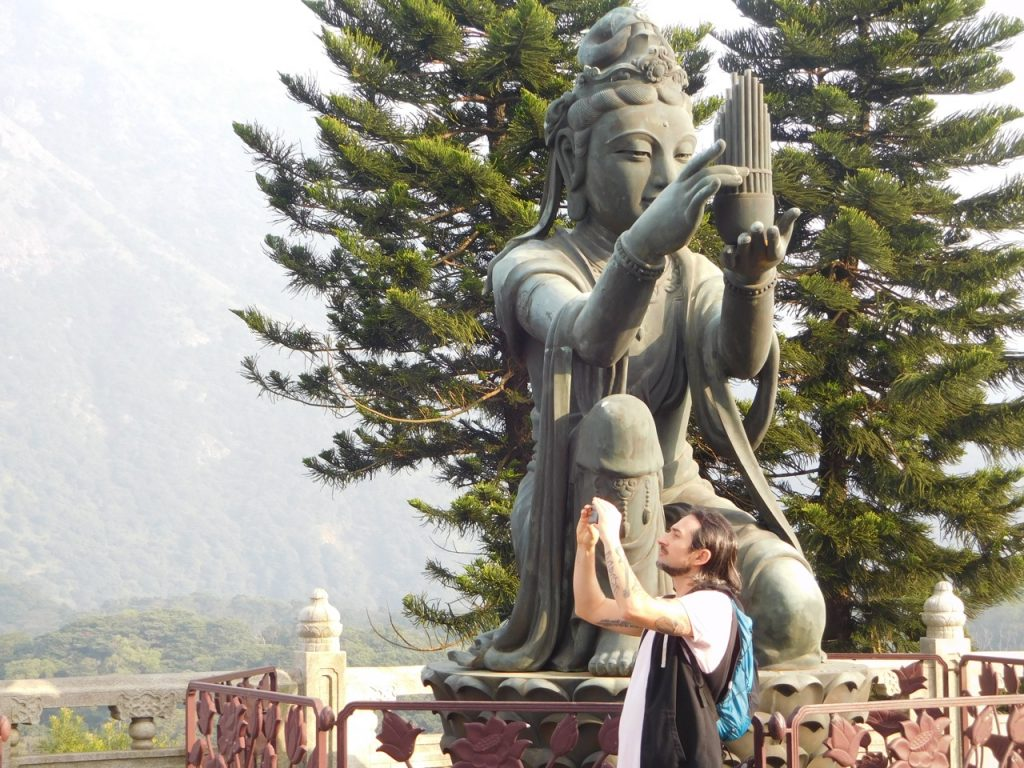 Simone with another one of the Deva