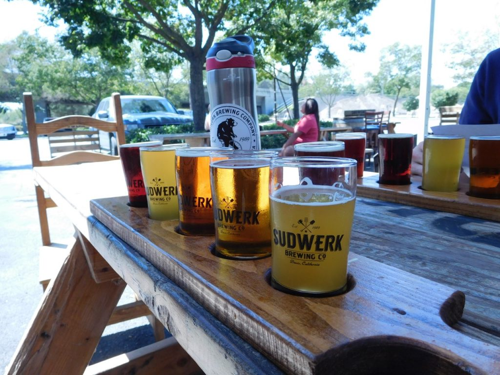 beer tasting at sudwerk in Davis