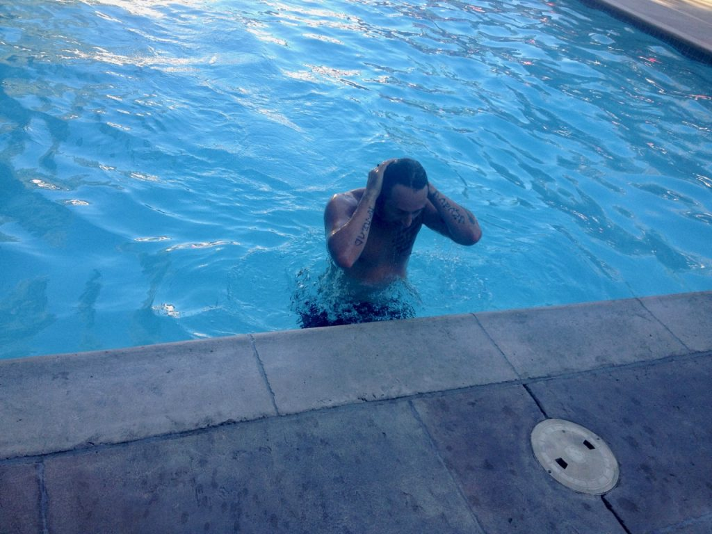 Simone swimming in Sacramento