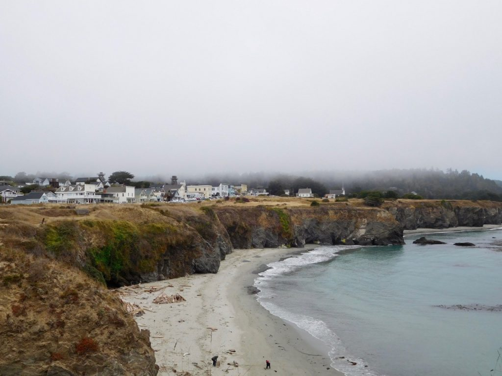 Another view of Mendocino beach