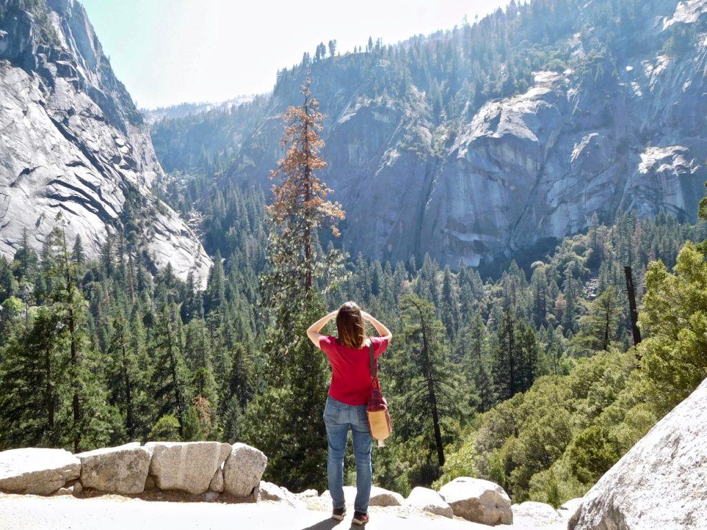 Alice watching Yosemite Valley
