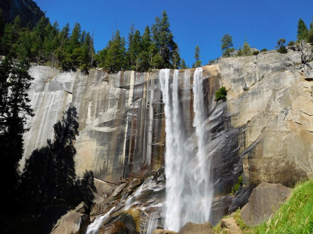 The magnificent Vernal Falls in Yosemite National Park