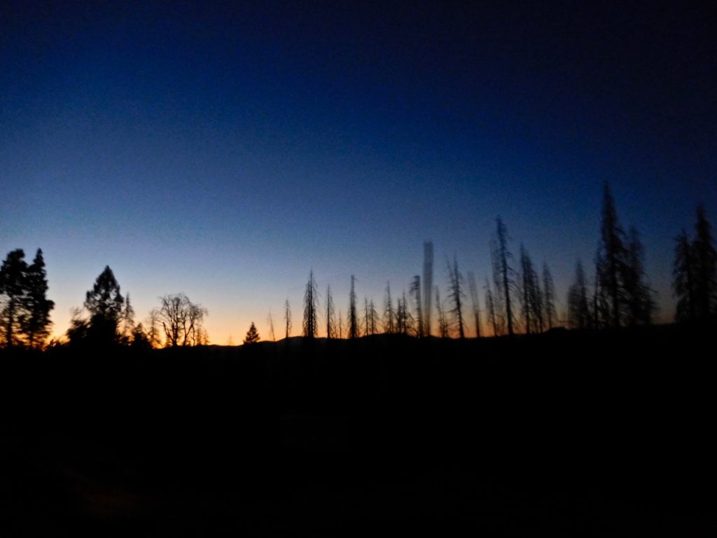 leaving Yosemite at night