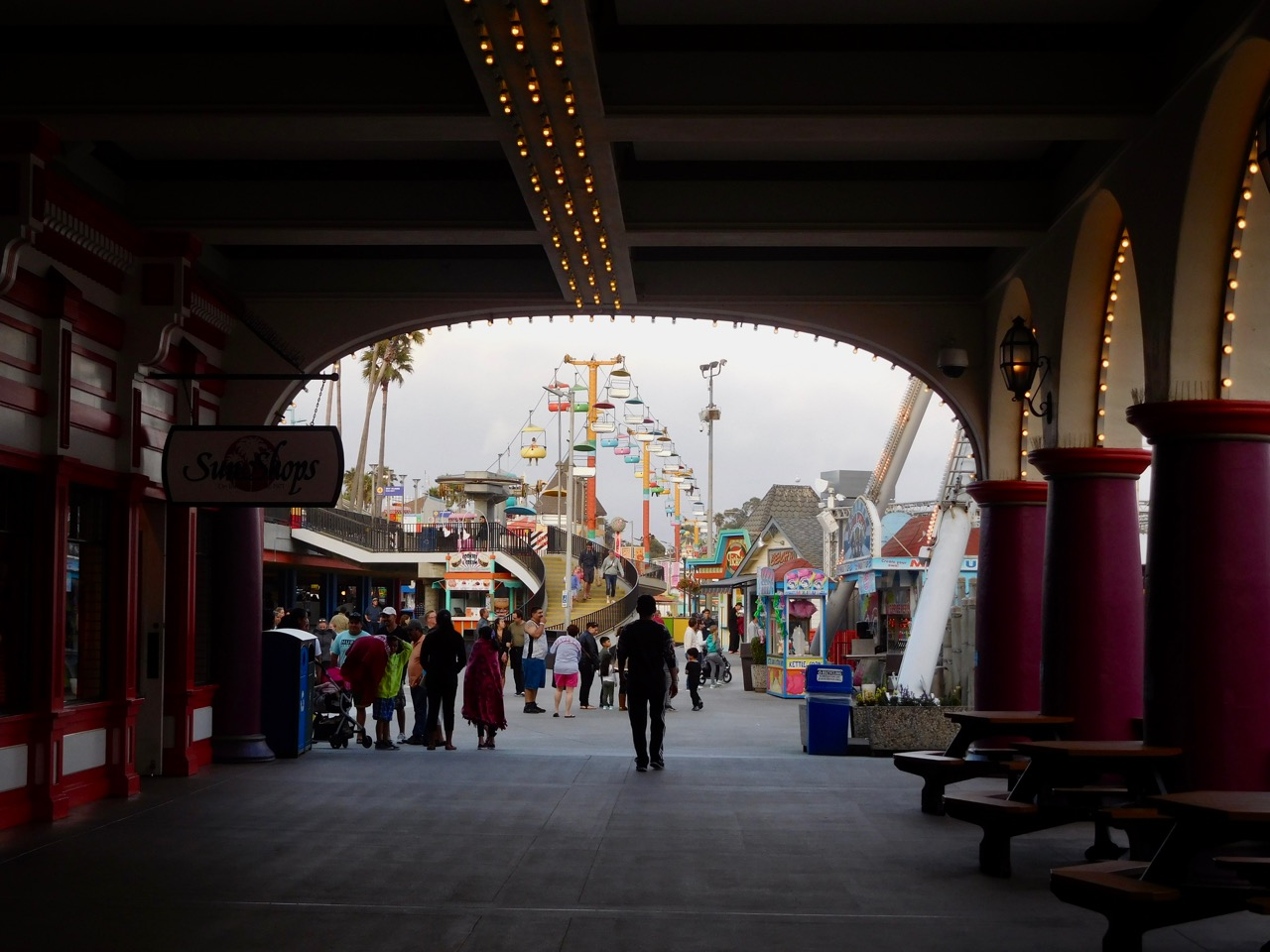A few days in Santa Cruz - Arriving at the Boardwalk Amusement Park [04]