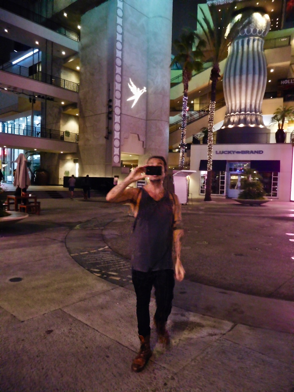 3 Days in L.A. - Hollywood Boulevard at night (3)