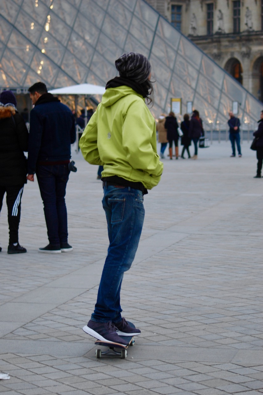 Winter in Paris - Skateboarding at the Louvre Pyramids (13)