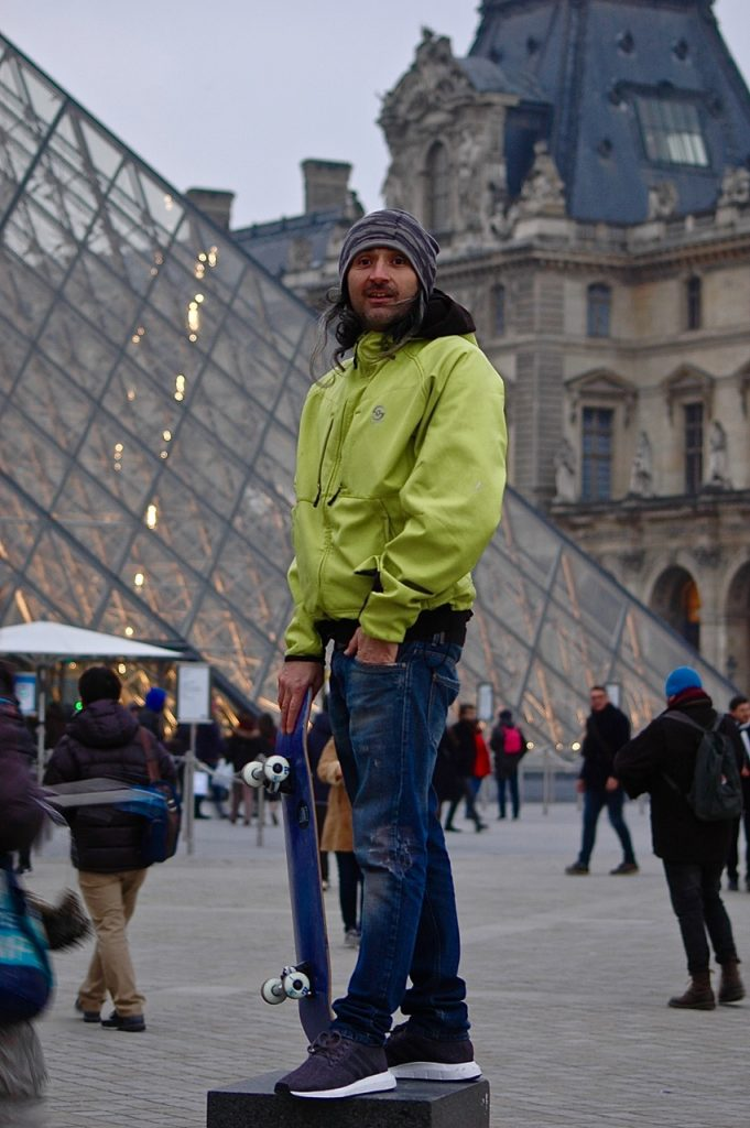 Winter in Paris - Skateboarding at the Louvre Pyramids (11)