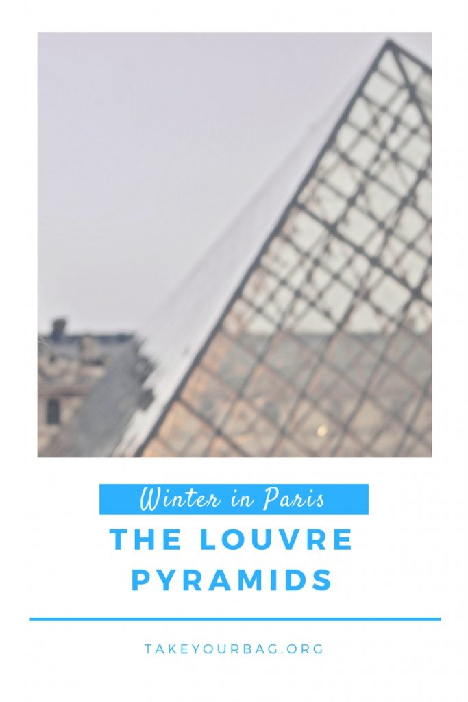 Winter in Paris is magical! Check out the Louvre Pyramids in winter time, it will sweep you off your feet! #Paris #Louvre #LouvrePyramids #Winter #WinterInParis (2)