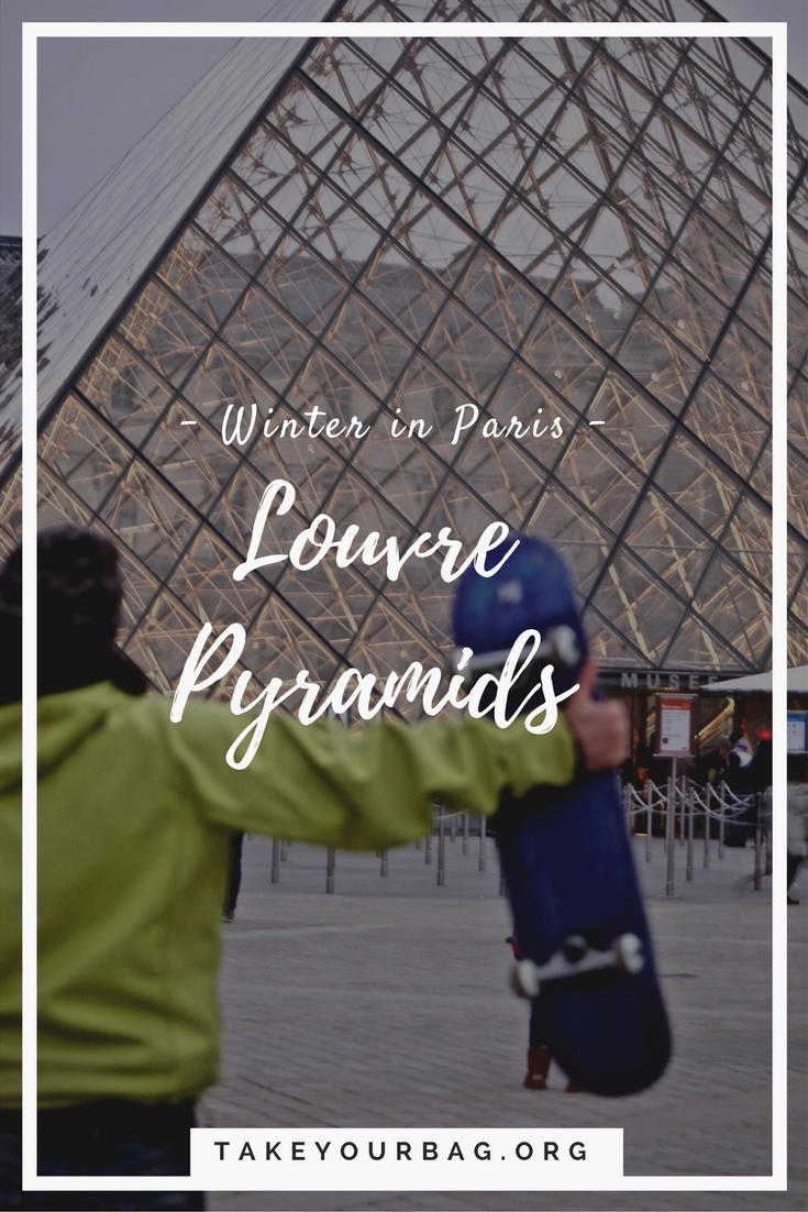 Winter in Paris is magical! Check out the Louvre Pyramids in winter time, it will sweep you off your feet! #Paris #Louvre #LouvrePyramids #Winter #WinterInParis (3)