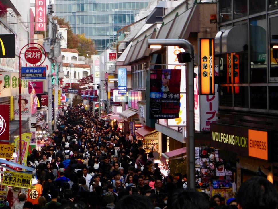 The crowd at Takeshita Street (Takeshita Dori) in Harajuku, Tokyo
