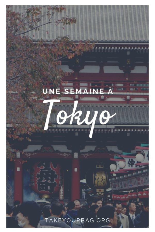 Epingle pinterest une semaine à Tokyo