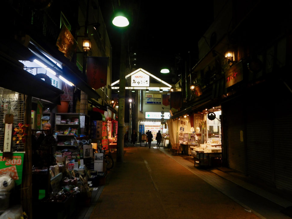 Little street and gate of Yanaka Ginza, a traditional area that has to be on your Tokyo itinerary!