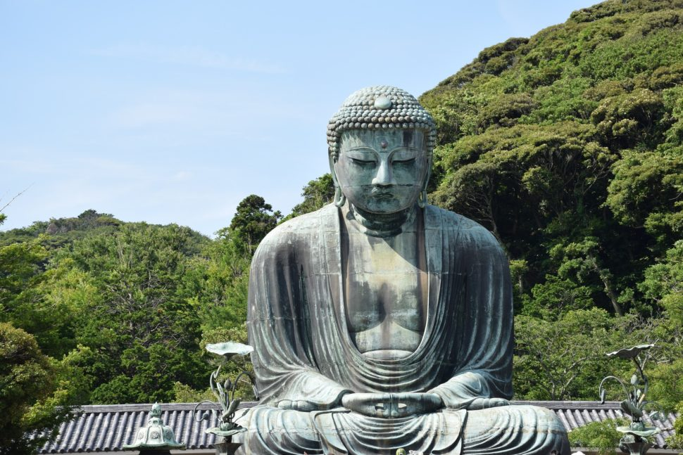 The famous sitting Buddha in Kamakura, an great day trip from Tokyo