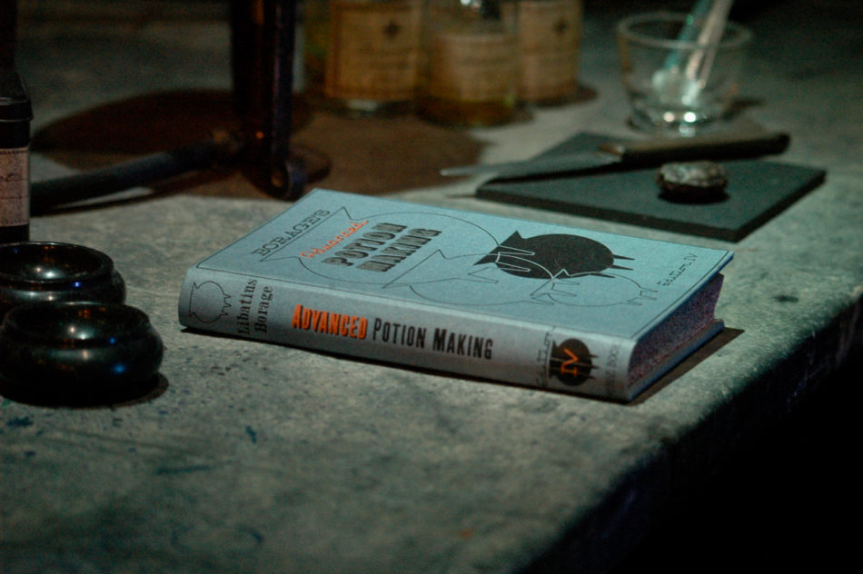 Advanced Potion Making book in the Potions Classroom at the Harry Potter Warner Bros Studio