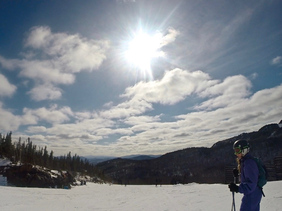 Alice in Mont Orford - a ski resort in Quebec close to Montreal