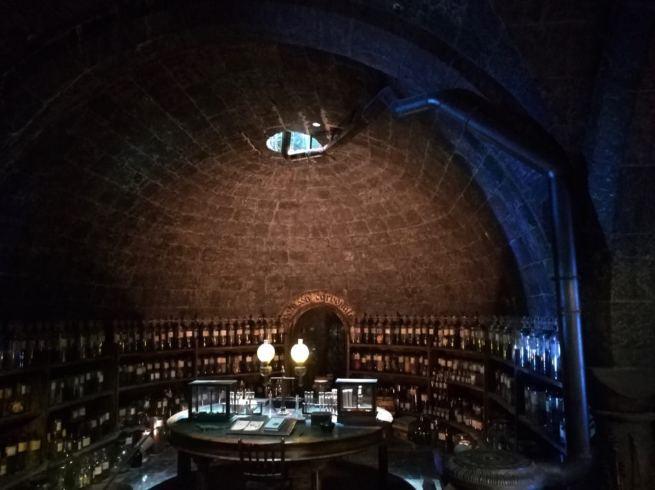 Back of the Potions Classroom at the Harry Potter Warner Bros Studios in London