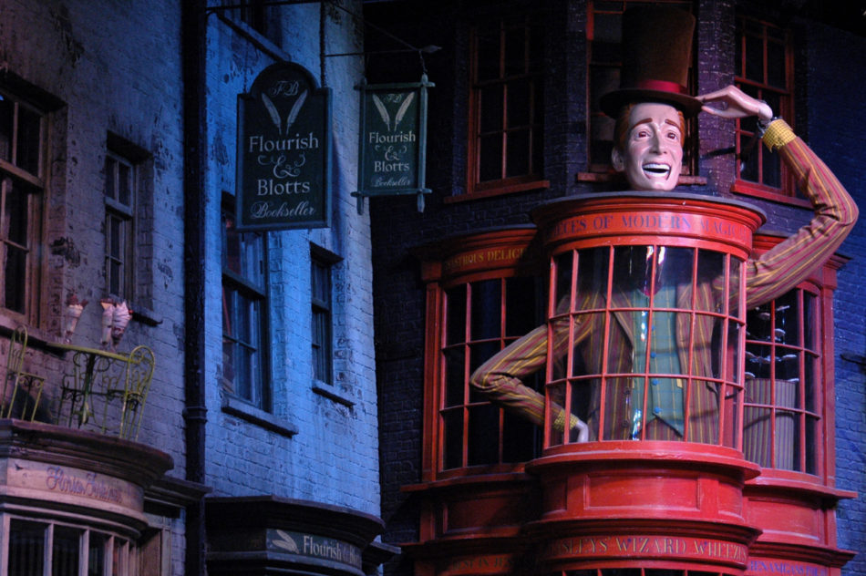 Diagon Alley at the Harry Potter Warner Bros Studio