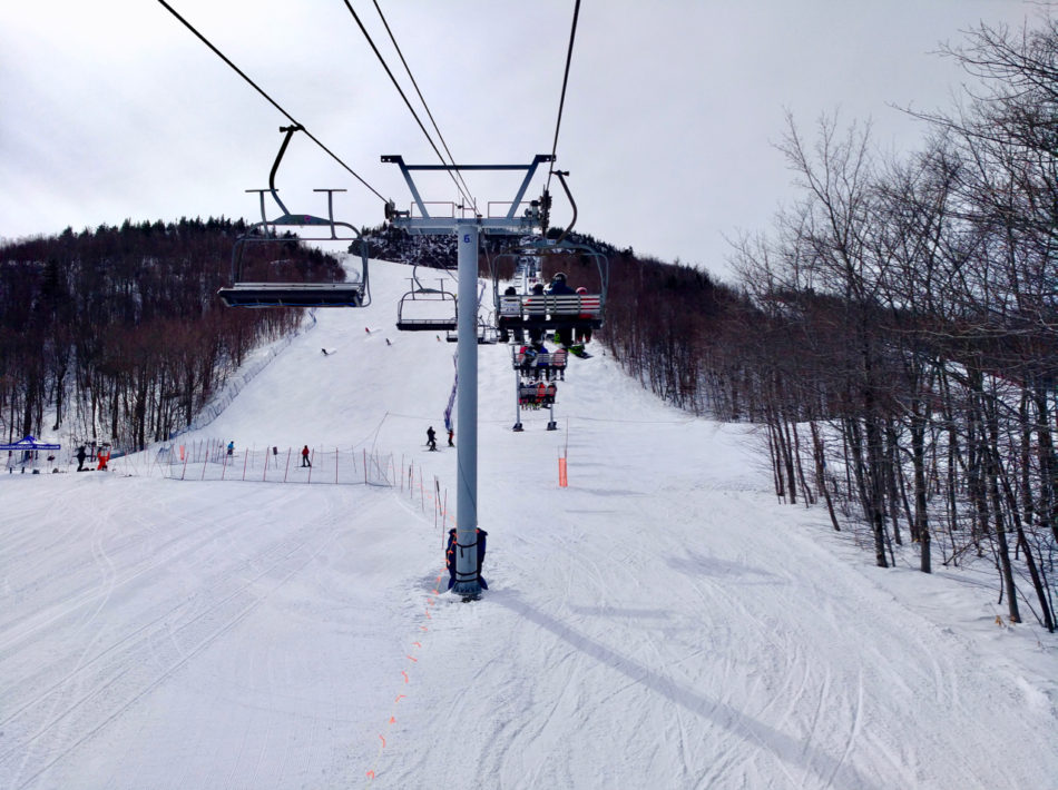 Ski lifts of Mont Orford in Quebec