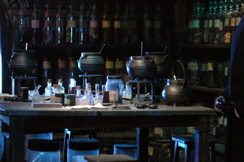 Potions Classroom left side at the Harry Potter Warner Bros Studio